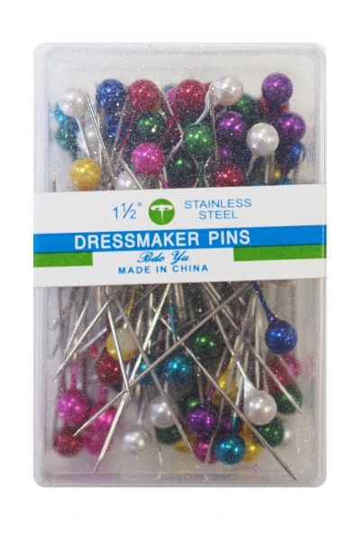 Pins 1 1/2 inches colorful