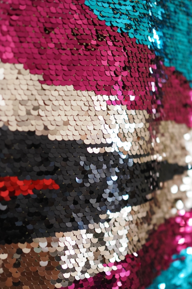 X891 PICCOLOR SEQUINS MESH FABRIC
