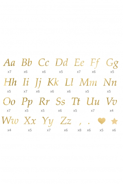 LETTER STICKERS GOLD