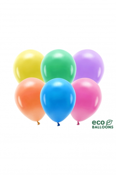 ECO BALLOONS 30 CM METALLIC 100 PCS.