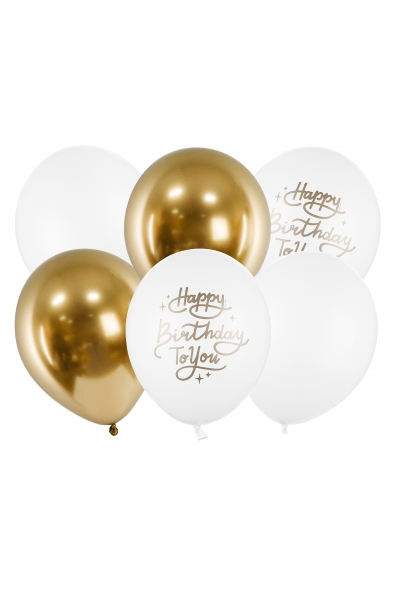 "BALLOONS ""HAPPY BIRTHDAY TO YOU"" 6 PCS."