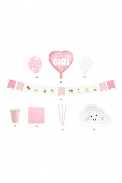 "DECORATION SET ""IT'S A GIRL"""